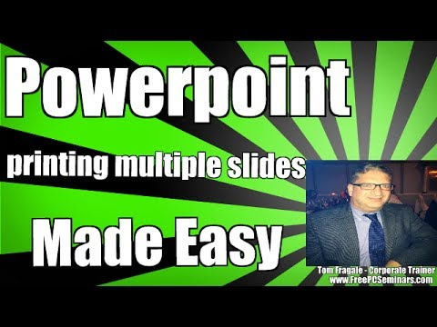 How to Print Multiple Power Point Slides on One Page PowerPoint 2007 2010 2013 2016 tutorial