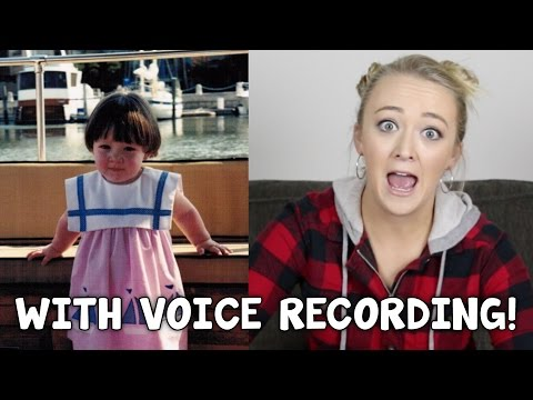 HOW MY VOICE SOUNDED AS A BABY!