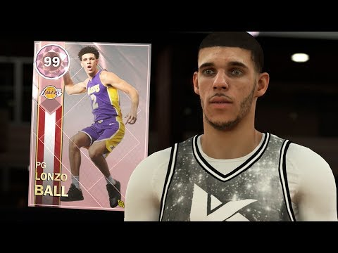 PINK DIAMOND LONZO BALL GAMEPLAY!! HE'S A BEAST! (NBA 2K18 MYTEAM)