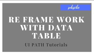 UI Path tutorials for beginners - Invoke workflow file