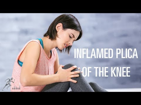 What are the symptoms of an inflamed plica of the knee?