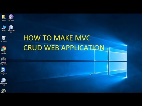 How to create basic mvc crud web application