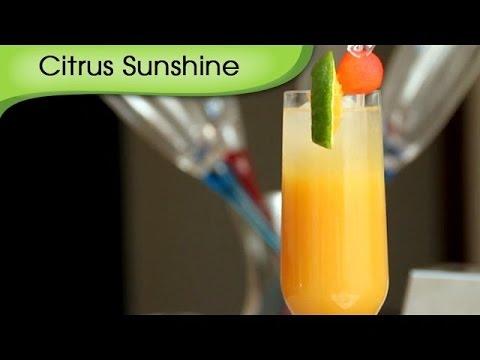 Citrus Sunshine - Orange Juice Mocktail Recipe by Ruchi Bharani [HD]