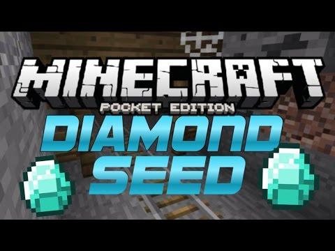 11 DIAMONDS! MINESHAFT/SURVIVAL ISLAND!| NEW MCPE Seed! (Minecraft PE/Pocket Edition) 0.10-4-0.11.0