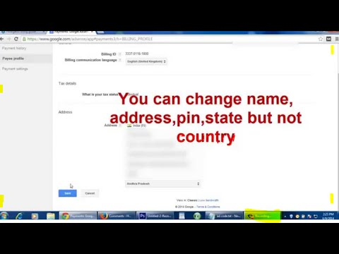 Tips & Tricks : How to change your address in google adsense ( Easy Way )