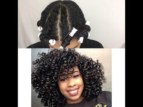 Natural Hair/ Flat twist Out on Fine Hair