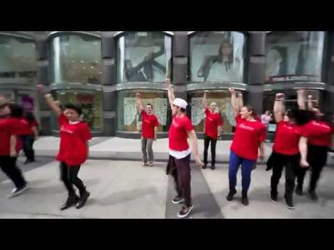 Clarins Flash Mobs at Macy's and Bloomingdales in NYC