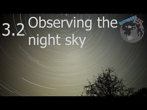 astronomy2GCSE Topic 3.2 Observing the Night Sky