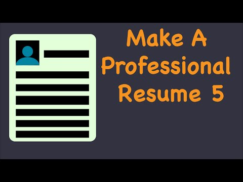 Professional Resume & Cover Letter 5
