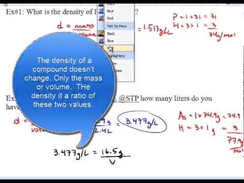 Chem 11 - Density and Molar Volume