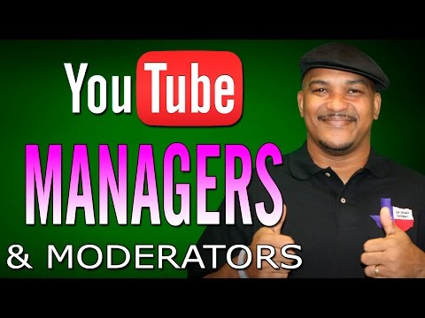 How to Add Managers & Moderators to Your YouTube Channel