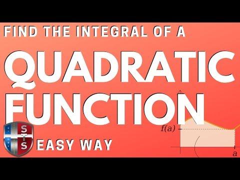 Calculus - Definite Integral - Quadratic Function