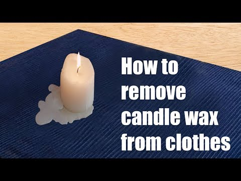 How to remove candle wax from clothes