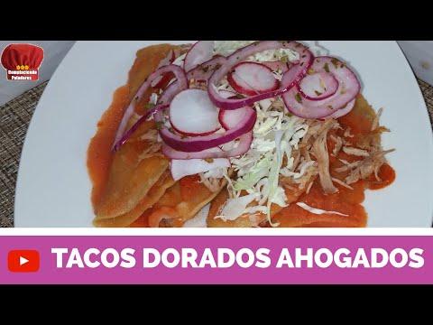 TACOS DORADOS AHOGADOS RECETA- COMPLACIENDO PALADARES