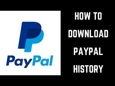 How to Download PayPal History