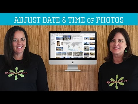 Adjust Date & Time on Photos - Mac OS