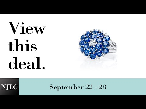 Deal of the Week: White Gold Sapphire and Diamond Ring