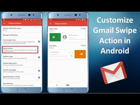 How to Customize Left and Right Swipe Action of Gmail in Android 2019