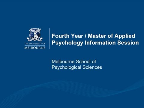 Fourth Year / Master of Applied Psychology Information Session