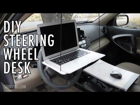 DIY Steering Wheel Desk (or Laptop Stand)