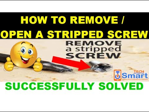 How to remove stripped screws on Samsung new method (solved)