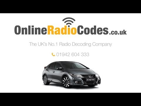 🚗 Honda Civic Radio Code Unlock Radio Codes 2005 - 2010