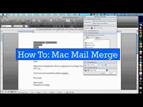 Easy How To: Mac Mail Merge with Microsoft Office and Excel