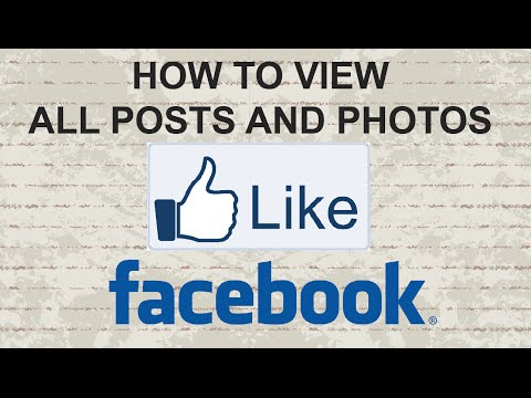 How to view all posts and photos you've 'liked' on Facebook