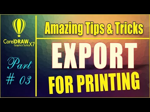 Coreldraw x7 Amazing Tips & tricks - How To Export File For Printing - Pena flex - brochure