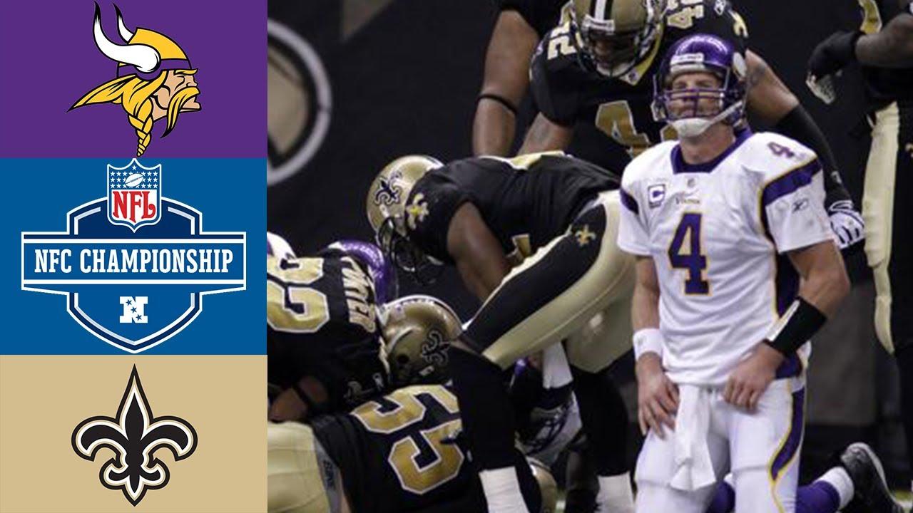 Vikings vs Saints 2009 NFC Championship