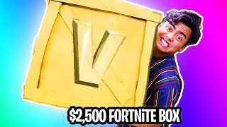 UNBOXING a $2500 GOLDEN Fortnite Mystery Box!