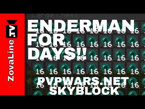 The Best Overworld Skyblock Enderman Farm! How to Make an Enderman Farm! PvPWars.Net Skyblock Fire