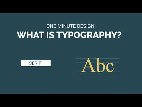 One Minute Design: What is Typography?