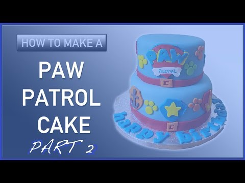 How to Make a Paw Patrol Themed Cake Part 2 - Cakes for Kids