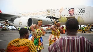 The First A380 lands in Accra | Emirates Airline