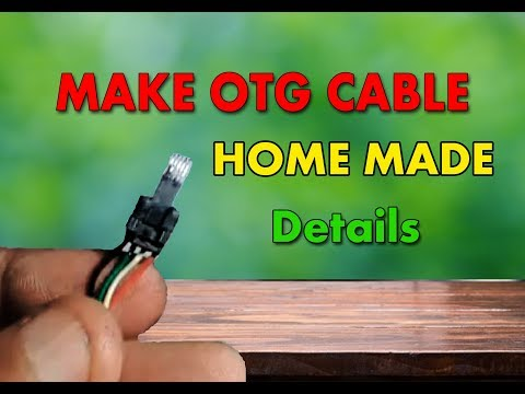 How to Make Otg Cable For android At home