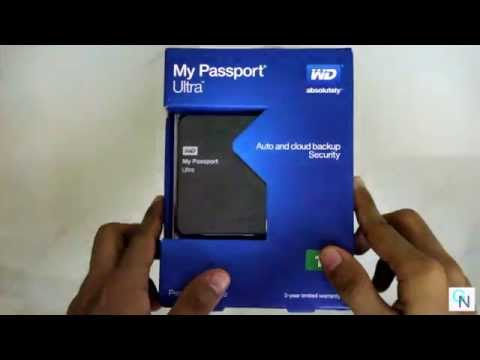 Western Digital  My Passport Ultra 1TB USB 3.0 Unboxing and Overview
