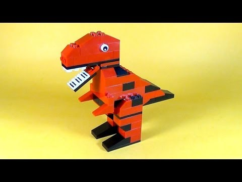 How To Make Lego DINOSAUR T-REX - 10664 LEGO® Bricks and More Creative Tower Tutorial