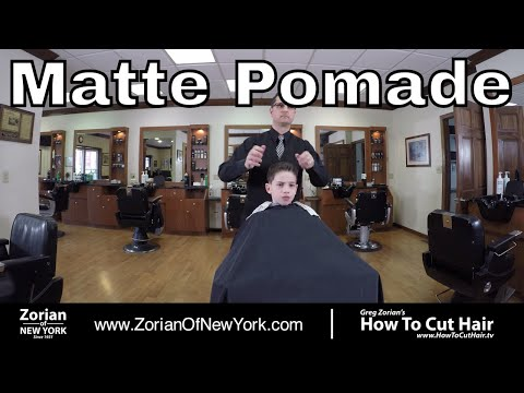 Ivy League Haircut Styled with Matte Pomade - Greg Zorian Pomade Tutorial