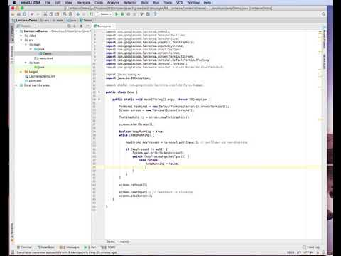 Lanterna 3,  Console Text GUI Library for Java, Part 2 of 4