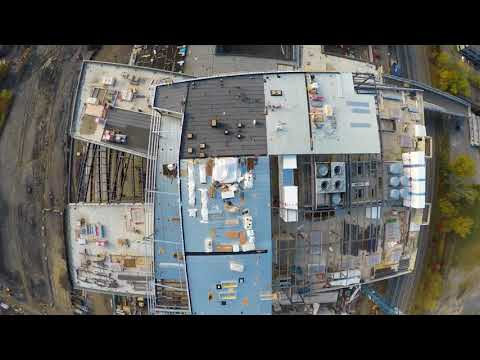 Construction Site Aerial Review   4k Multicut