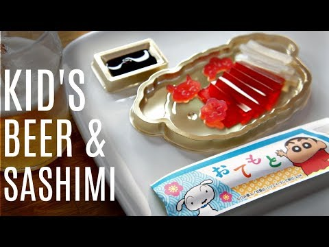 BEER & SASHIMI Candy Making Set CRAYON SHIN CHAN | Whatcha Eating?