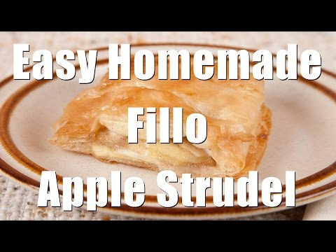 Easy Homemade Fillo (Phyllo) Apple Strudel (MedDiet Ep. 120) DiTuro Productions