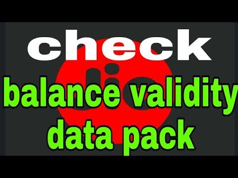 How to check jio data balance validity