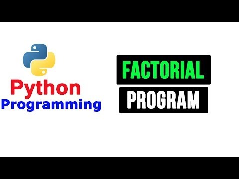 Python Programs - Factorial Program Using for loop
