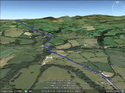 Cheshire Cat 2012. Cycling Sportive event. Google Earth Flyover.