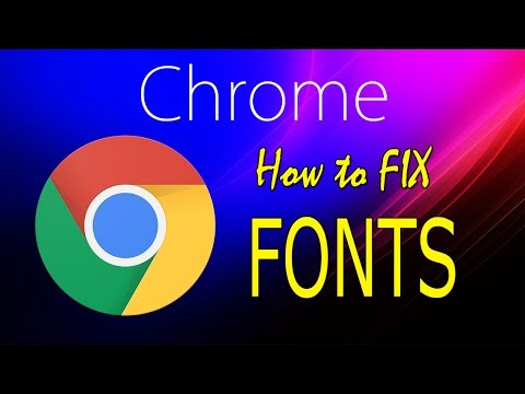 Chrome Font Fix