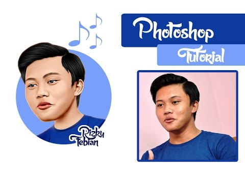 Caricature With Smudge Painting Technique ( Rizky Febian ) || Photoshop CS5