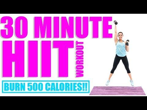 30 Minute HIIT Workout 🔥Burn 500 Calories! 🔥