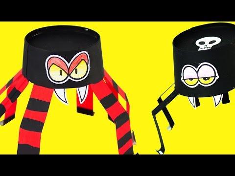 Paper Spider - DIY Halloween Crafts Ideas for Kids   Box Minis